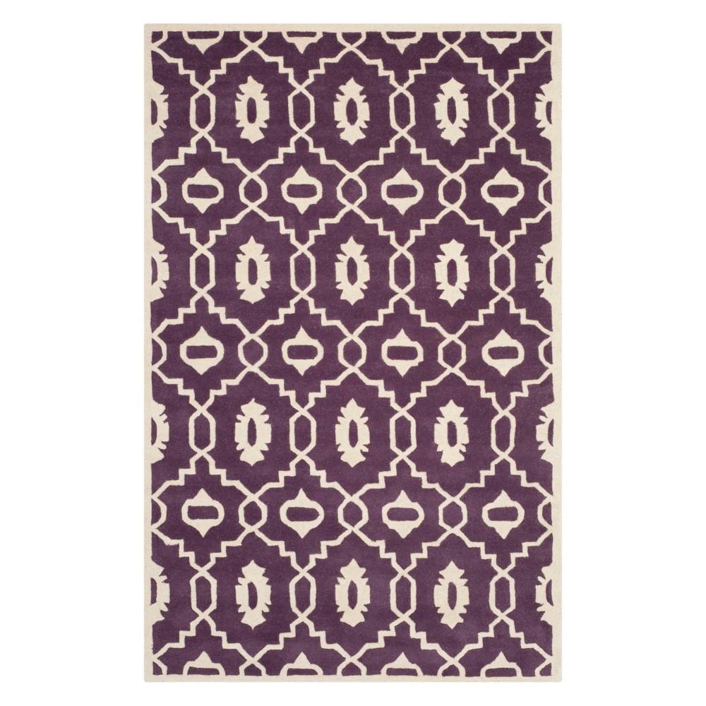 Best Buy 6X9 Geometric Area Rug PurpleIvory Safavieh