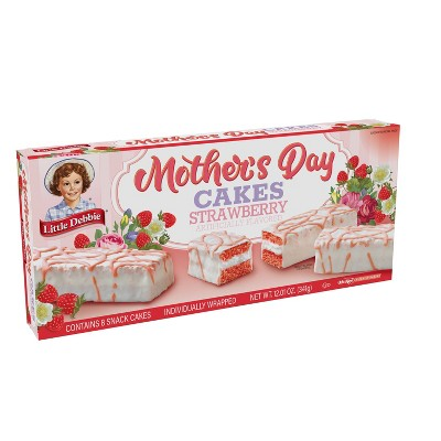 Little Debbie Strawberry Mother's Day Cakes - 8ct/12.01oz