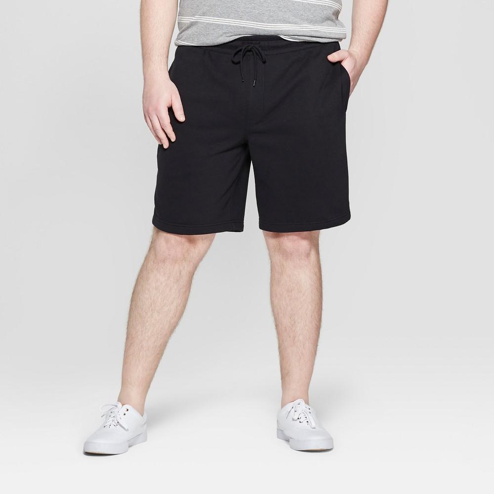 Men's Big & Tall 11.5'' Knit Lounge Shorts - Goodfellow & Co Black 4XB