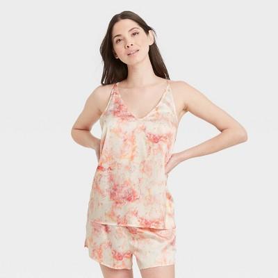 Women's Tie-Dye Satin Sleep Camisole - Stars Above™ Pink