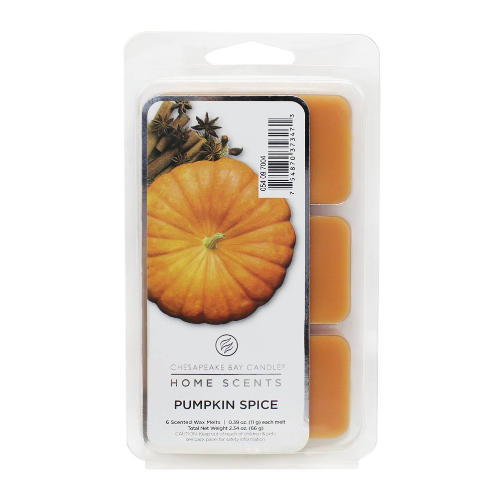 Image of 6pk Wax Melts Pumpkin Spice - Home Scents by Chesapeake Bay Candle, Orange