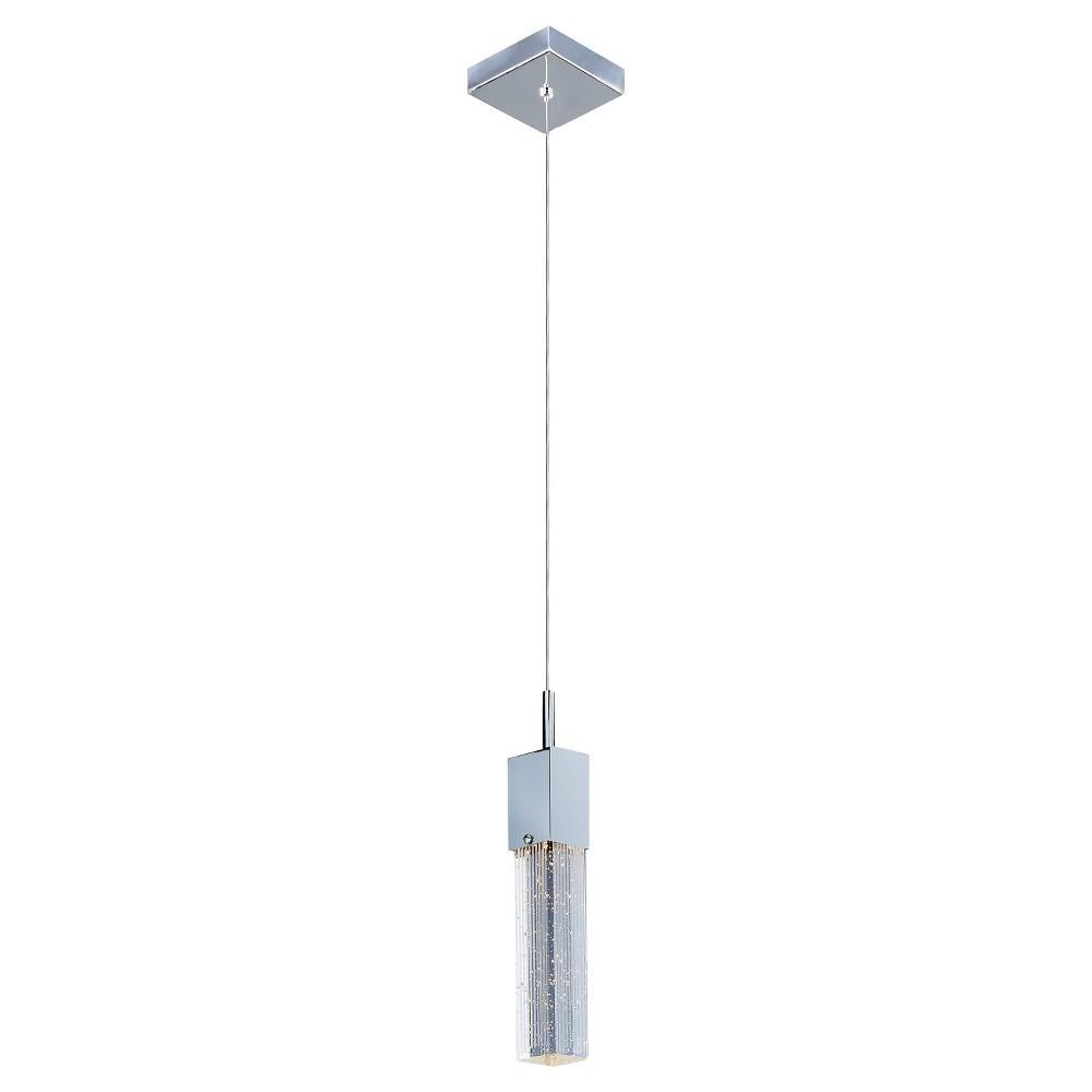 Image of ET2 Lighting Fizz Iii 1-Light Led Pendant, Silver