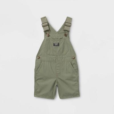 OshKosh B'gosh Toddler Boys' Woven Shortalls - Olive Green
