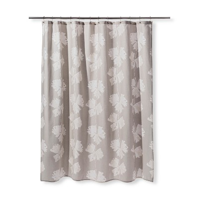 Floral Print Shower Curtain Gray/Cream - Project 62™
