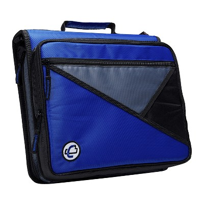 Case-it Universal Laptop Zipper Binder, O-Ring, 2 Inches, Blue