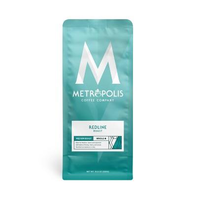 Metropolis Redline Espresso Medium Dark Roast Whole Bean Coffee - 10.5oz
