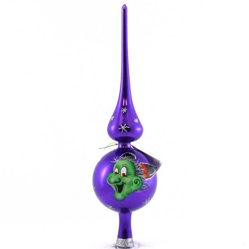 Laved Italian Ornaments Halloween Purple Witch Finial Italian  -  Tree Toppers - image 1 of 3