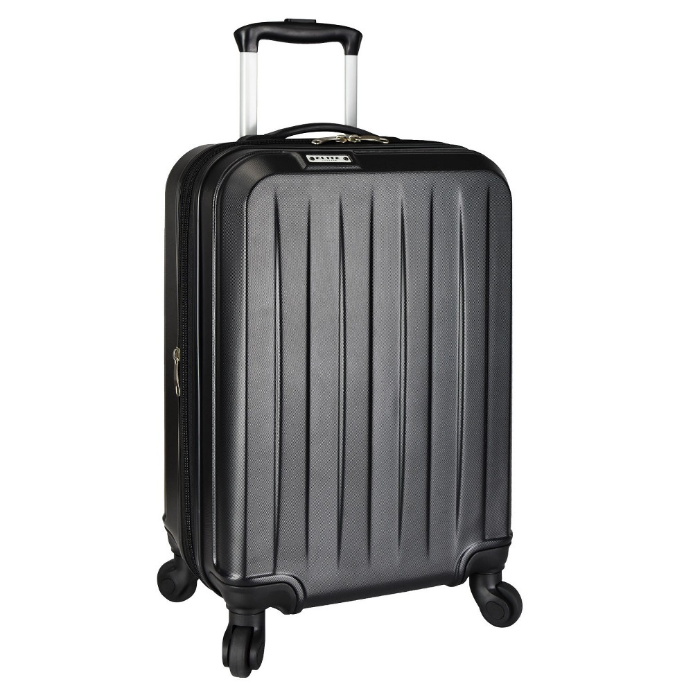 "Image of ""Elite Luggage 21"""" Dori Expandable Spinner Suitcase - Black"""