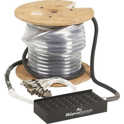 Rapco Horizon 24X8 XLR Fan-Box Snake 125 ft.