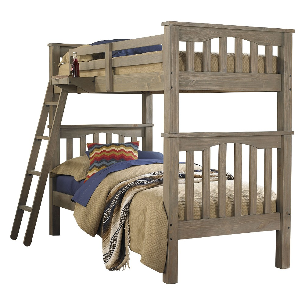 Twin Over Twin Highlands Harper Bunk Bed Driftwood (Brown) - Hillsdale Furniture