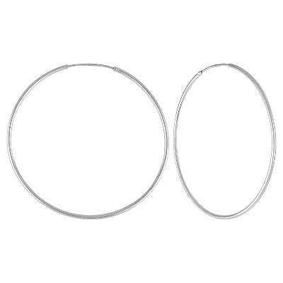 Women's Endless Hoop Earrings in Sterling Silver - Silver (40mm)
