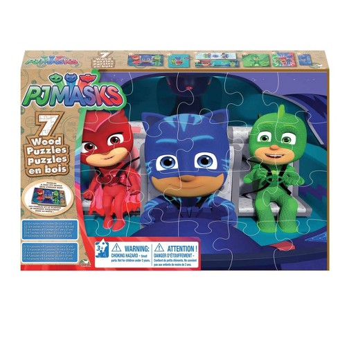 Cardinal PJ Masks 7pk Wood Puzzle - 108pc - image 1 of 1