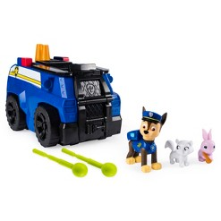 PAW Patrol Chase's Ride 'n' Rescue Transforming 2-in-1 Playset and Police Cruiser