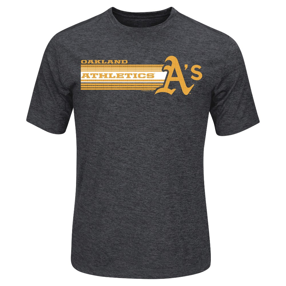 Oakland Athletics Men's Heathered Performance T-Shirt Xxl, Blue