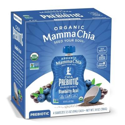 Mamma Chia Blueberry Acai Squeeze Vitality Snack - 4ct