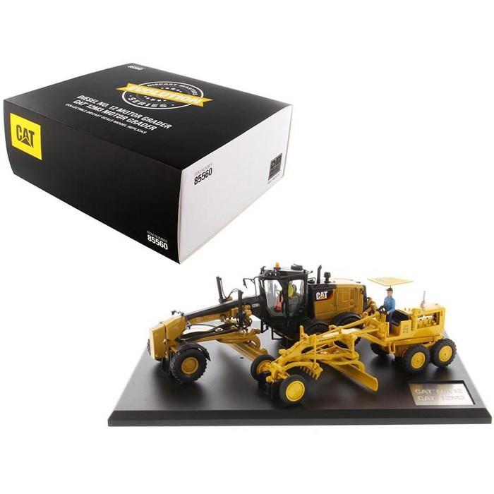 "Cat Caterpillar No.12 Motor Grader & 12M3 Motor Grader w/Operators ""Evolution Series"" 2 pc Set 1/50 by Diecast Masters - image 1 of 4"