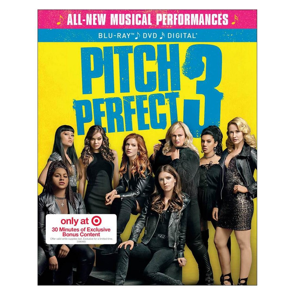 Pitch Perfect 3 Target Exclusive (Blu-ray + Dvd + Digital)