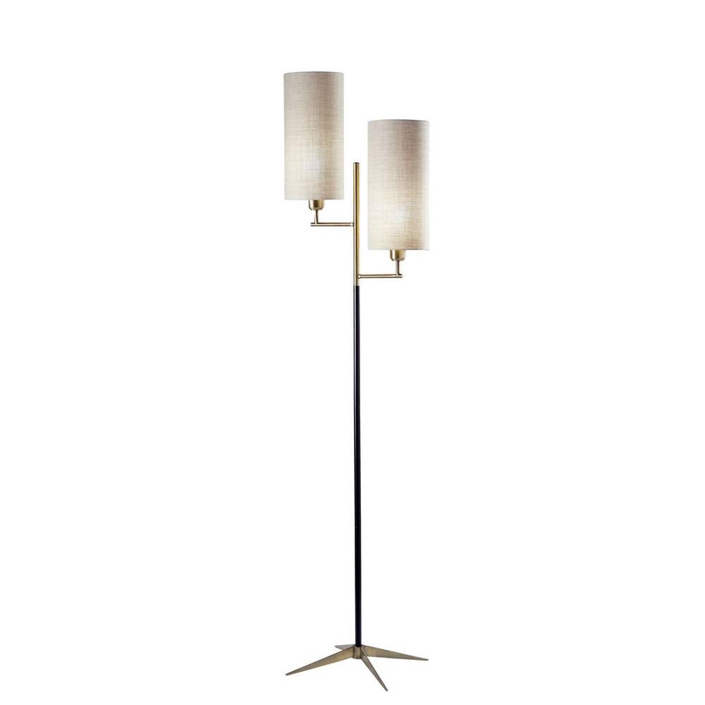 Davis Floor Lamp Matte Black (Lamp Only) - Adesso