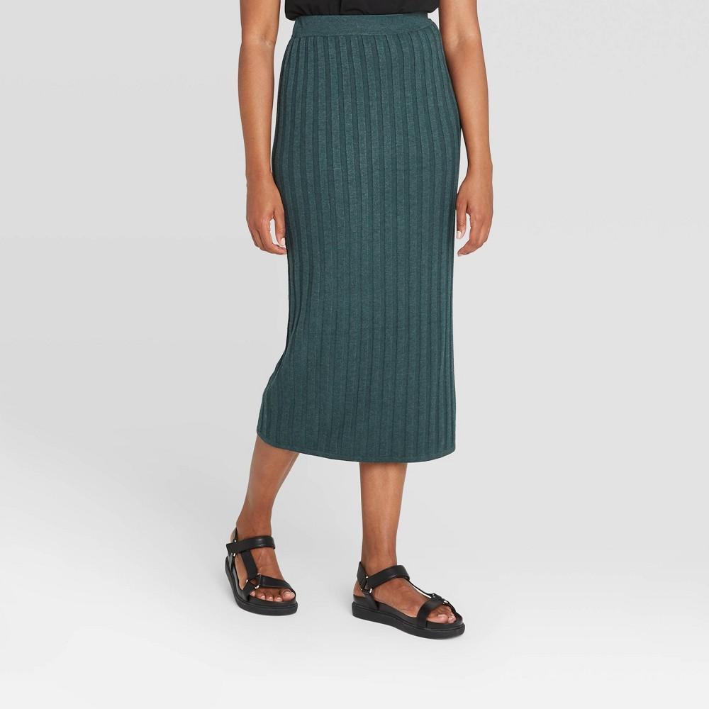 1950s Swing Skirt, Poodle Skirt, Pencil Skirts Womens A-Line Sweater Skirt - Prologue Blue XXL $29.99 AT vintagedancer.com