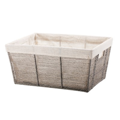 Twisted Paper Rope Large Tapered Basket Gray - Threshold™