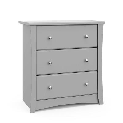 Storkcraft Crescent 3 Drawer Chest Dresser - Pebble Gray
