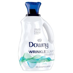 Downy Wrinkle Guard Liquid Fabric Softener and Conditioner - Unscented - 64 fl oz