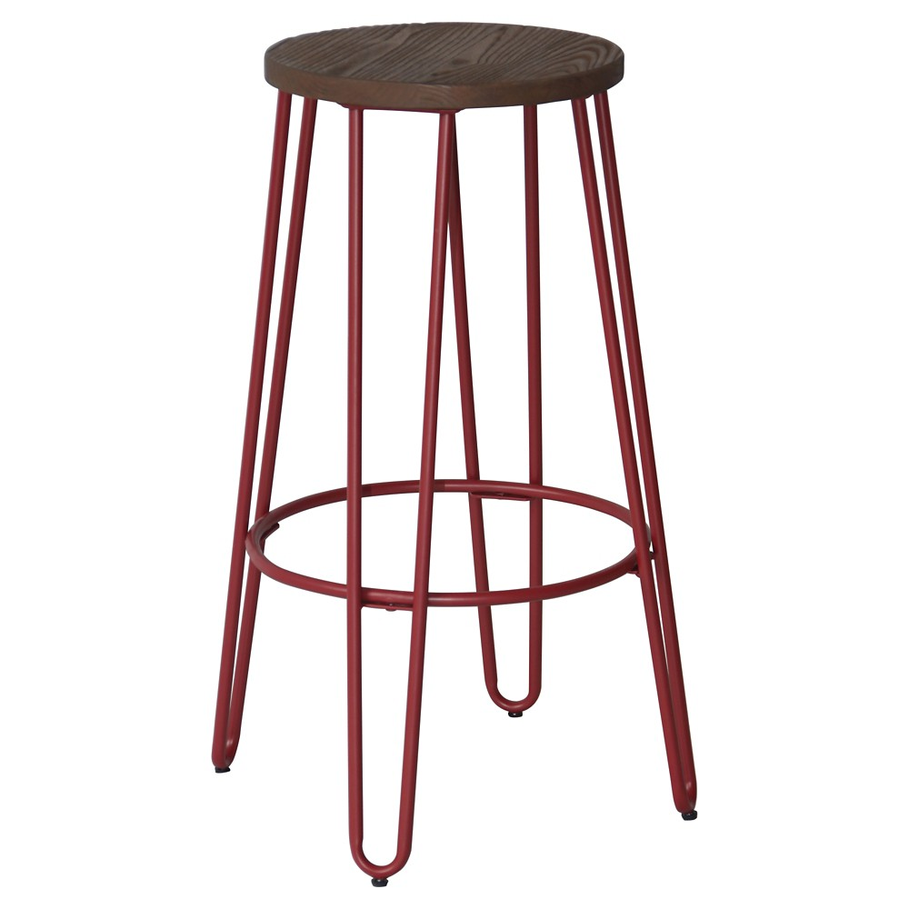 "Image of ""29"""" Quinn Barstool Red - Reservation Seating"""