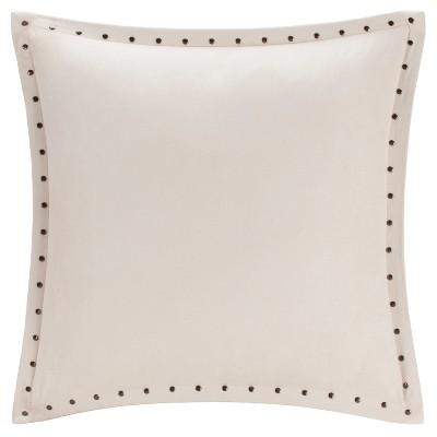 Ivory Hayes Stud Trim Throw Pillow (20 x20 )