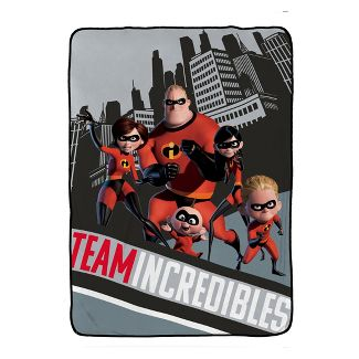 Incredibles 2 Single Full Bed Blanket Gray