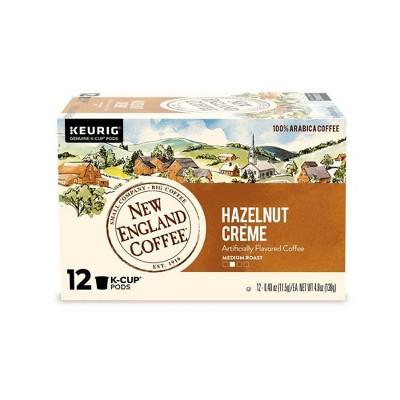 New England Hazelnut Creme Medium Roast Coffee Pods - 12ct