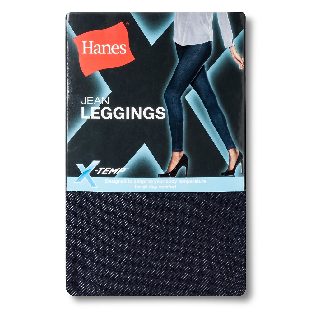 Hanes Juniors' X-Temp Cotton Leggings - Indigo L, Women's, Blue