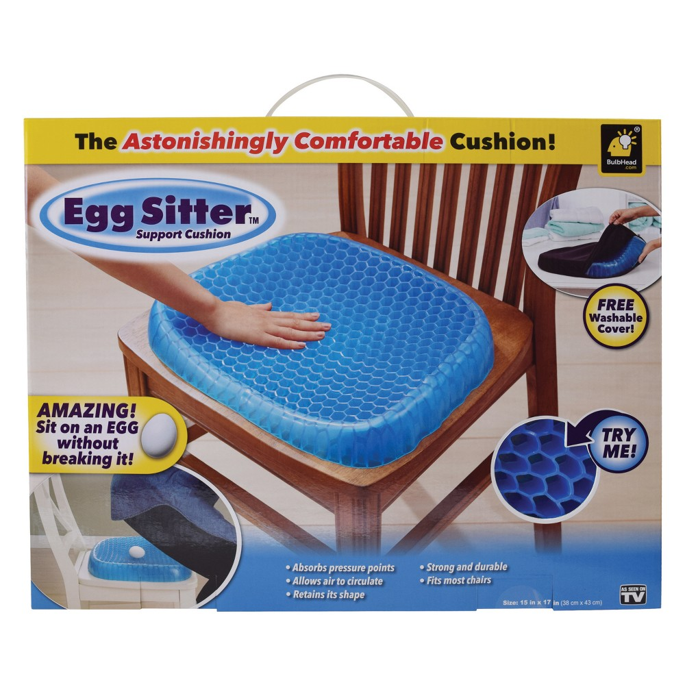 Image of As Seen on TV Egg Sitter Seat Cushion Blue