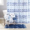 Kali Diamonds Shower Curtain Blue - Saturday Knight Ltd. - image 3 of 3