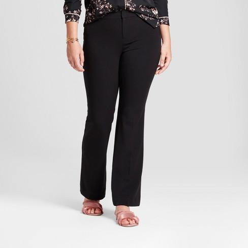 Women s Flare Curvy Bi-Stretch Twill Pants - A New Day™ Black 12S ... 402732d479