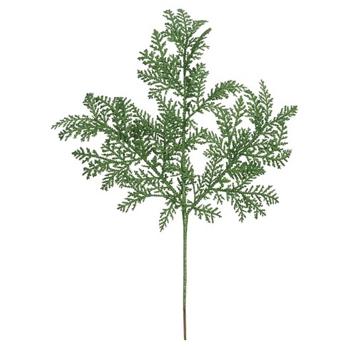 "22"" Green Glitter Cypress Spry Artificial Stem - image 1 of 1"