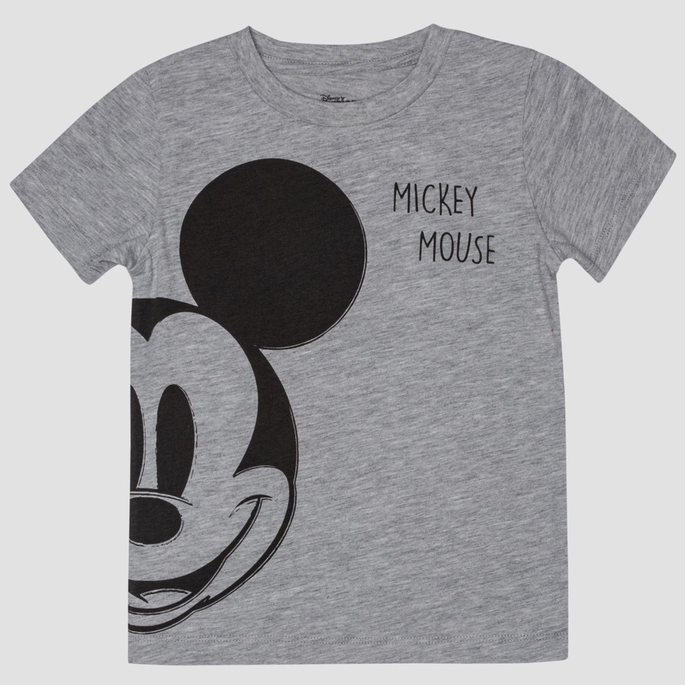 515f30626c Toddler Boys Mickey Mouse Short Sleeve T Shirt Gray 3T