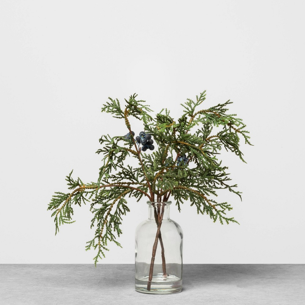 "Image of ""13.5"""" Faux Juniper Fixed Arrangement - Hearth & Hand with Magnolia, Green Blue"""