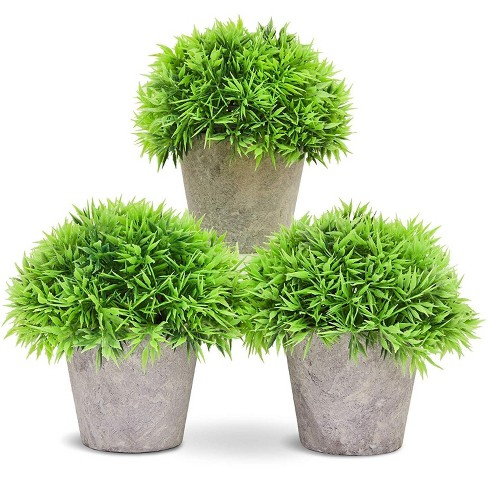 Juvale Small Artificial Potted Fake House Plant Home Decoration 3 Piece Set Target
