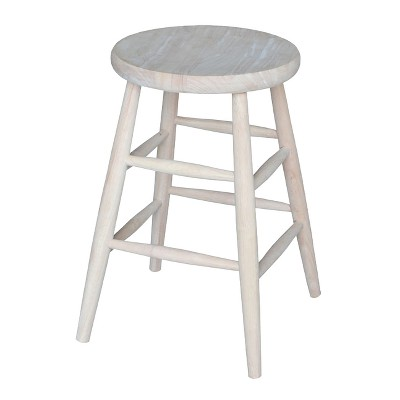 Madeline Scooped Seat 24  Stool - Unfinished - International Concepts