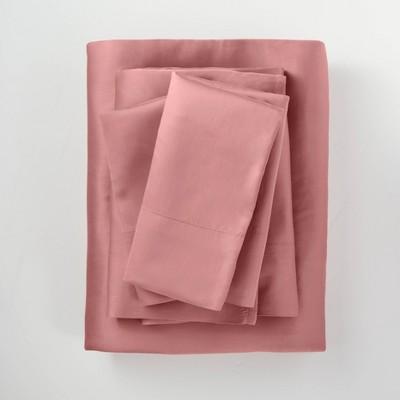 400 Thread Count Washed Lyocell Solid Sheet Set - Casaluna™