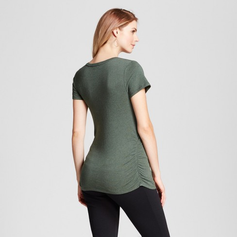 7264649e Maternity Shirred V-Neck T-Shirt - Isabel Maternity By Ingrid & Isabel™ :  Target