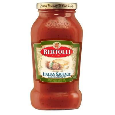 Bertolli Italian Sausage with Garlic and Romano Cheese Pasta Sauce - 24oz