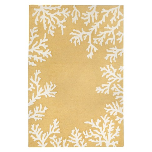"Liora Manne Capri Coral Border Indoor/Outdoor Area Rug - Yellow (7'6""X9'6"") - image 1 of 1"