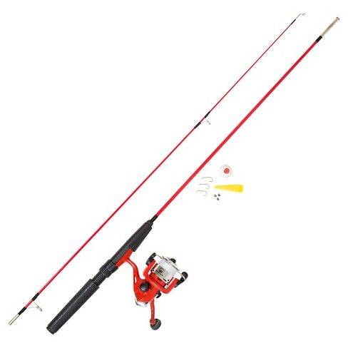 Wakeman Fishing Rod Spinning Combo and Tackle Set - Fire Red Spawn Series - image 1 of 2
