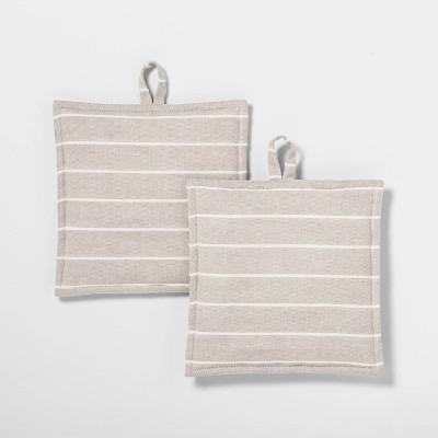 2pk Striped Pot Holder Tahoe Khaki - Project 62™