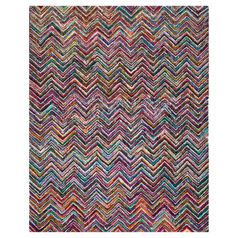Stripes Tufted Area Rug - (9'x12') - Safavieh, Multicolored