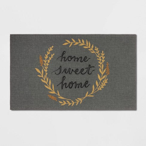 Home Sweet Home Rubber Doormat Gray- Threshold™ - image 1 of 3