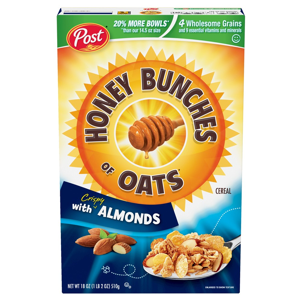 Post Honey Bunches of Oats with Crispy Almonds Cereal Now $2.37