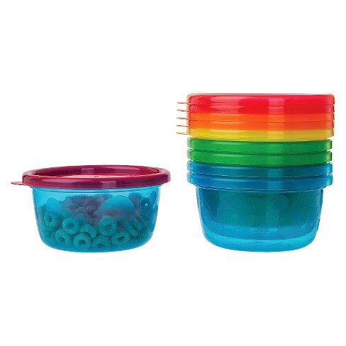 The First Years Take & Toss Toddler Bowls with Lids - 8oz, 6 pack - image 1 of 3