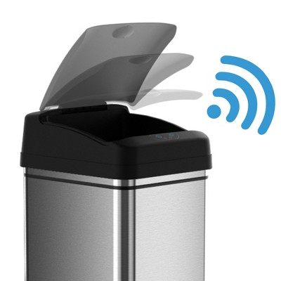 touchless 13 gallon stainless steel automatic touchless trash can rh target com target plastic kitchen trash cans